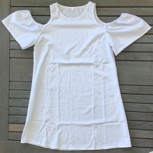 Dresses & Skirts - White Cover Up Dress with Shoulder Cutouts